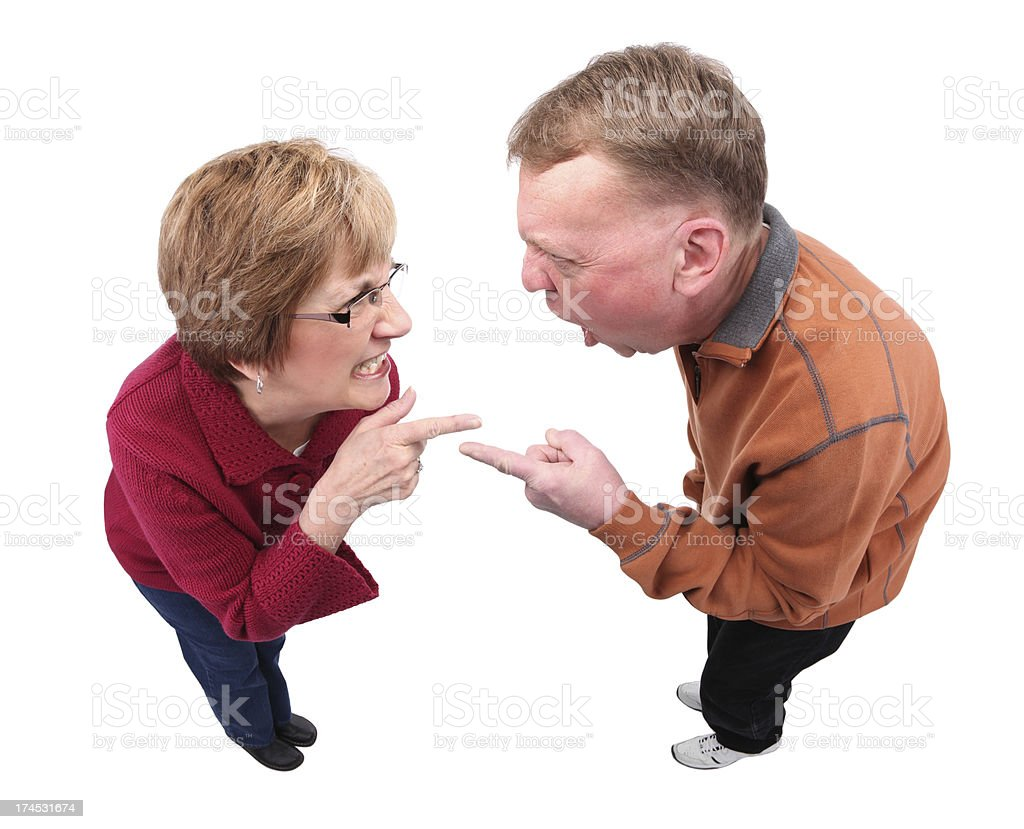 Arguing Couple royalty-free stock photo