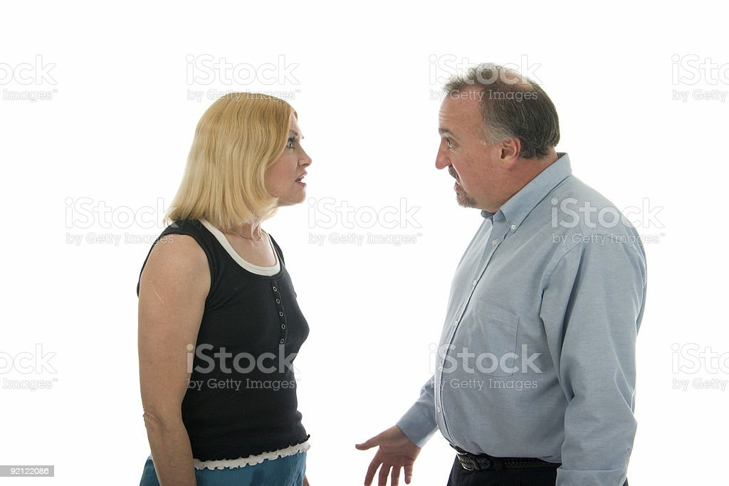 Arguing Man And Woman Couple royalty-free stock photo