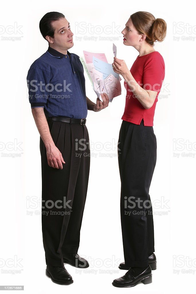Arguing Over Debt royalty-free stock photo