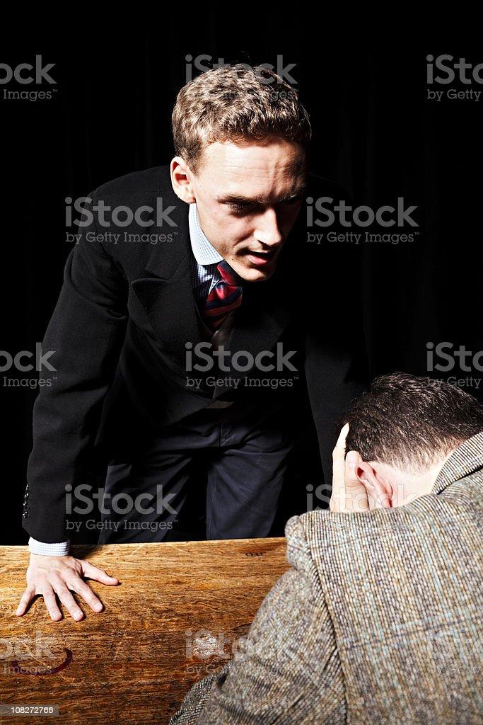 Argument between gentlemen stock photo