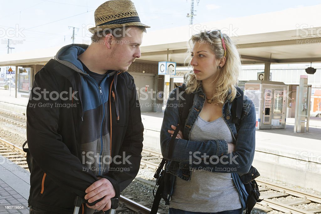 argument during travel young couple royalty-free stock photo