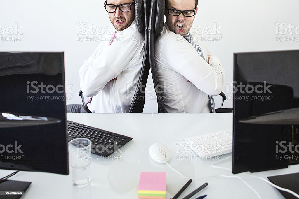 Argument in the Office royalty-free stock photo