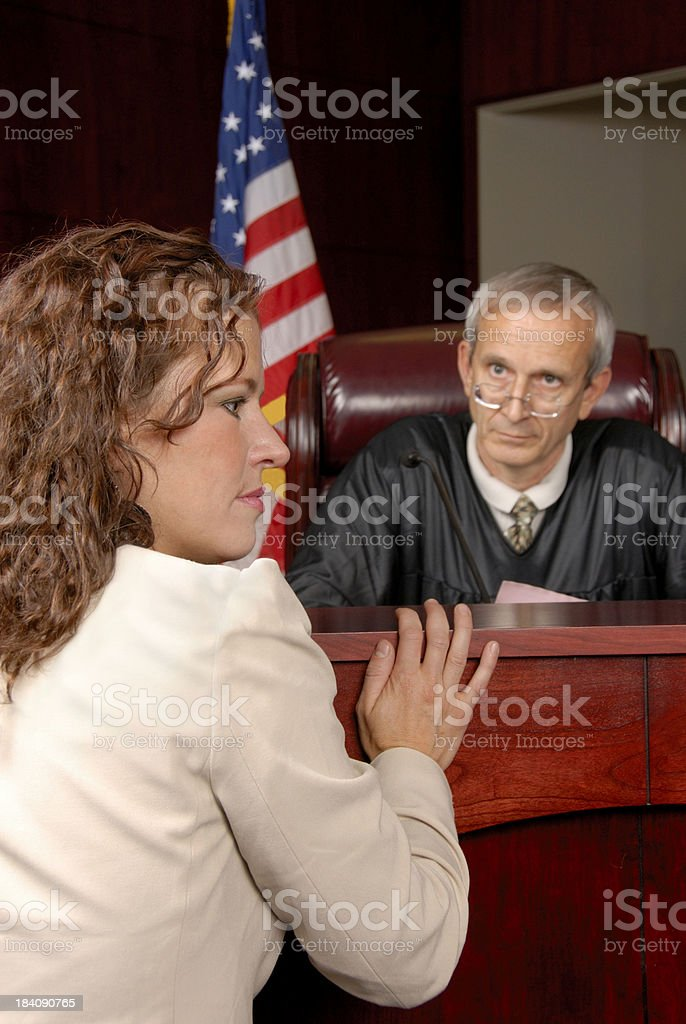 Arguments Before The Court royalty-free stock photo