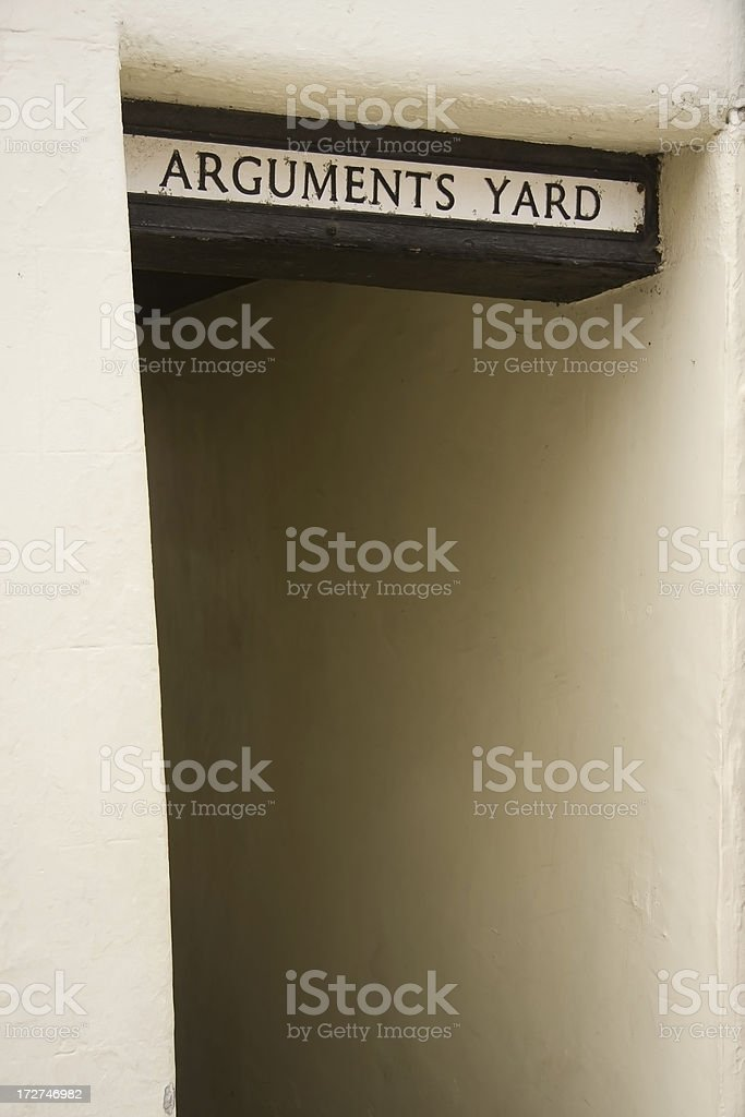 Arguments Yard royalty-free stock photo
