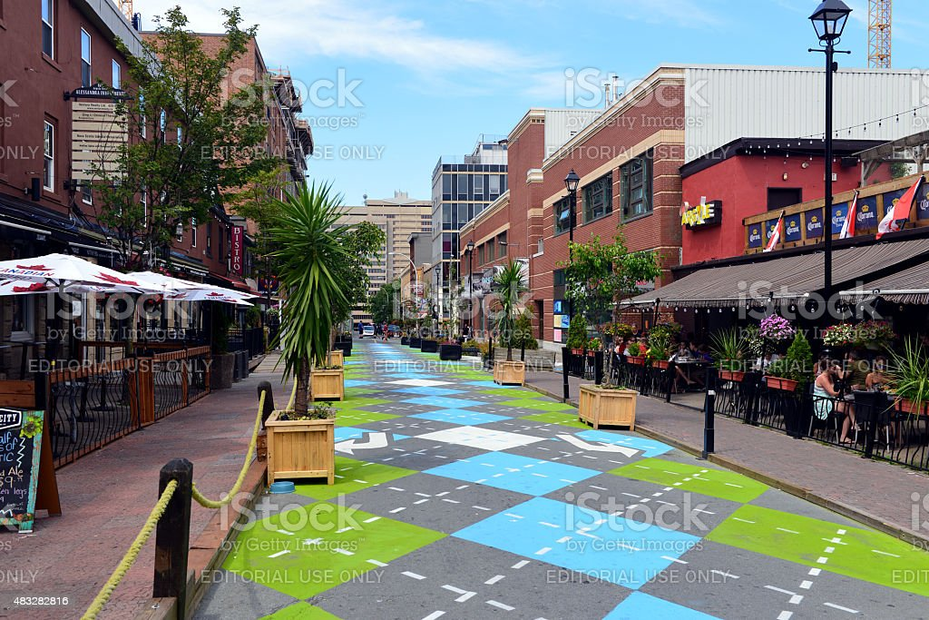 Argyle Street in Halifax stock photo