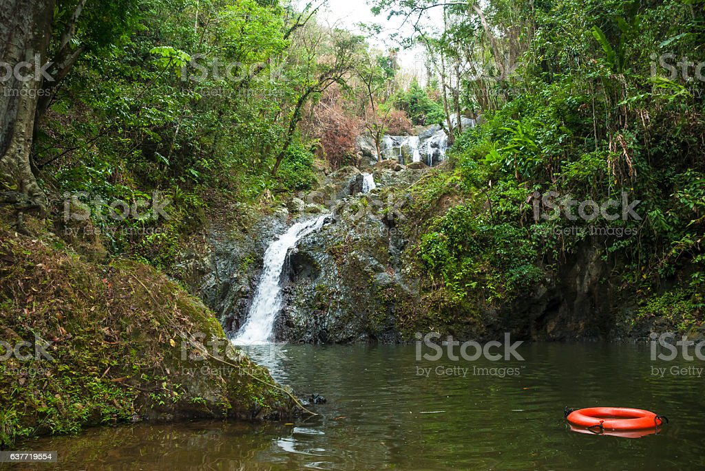 Argyle waterfall in Tobago stock photo