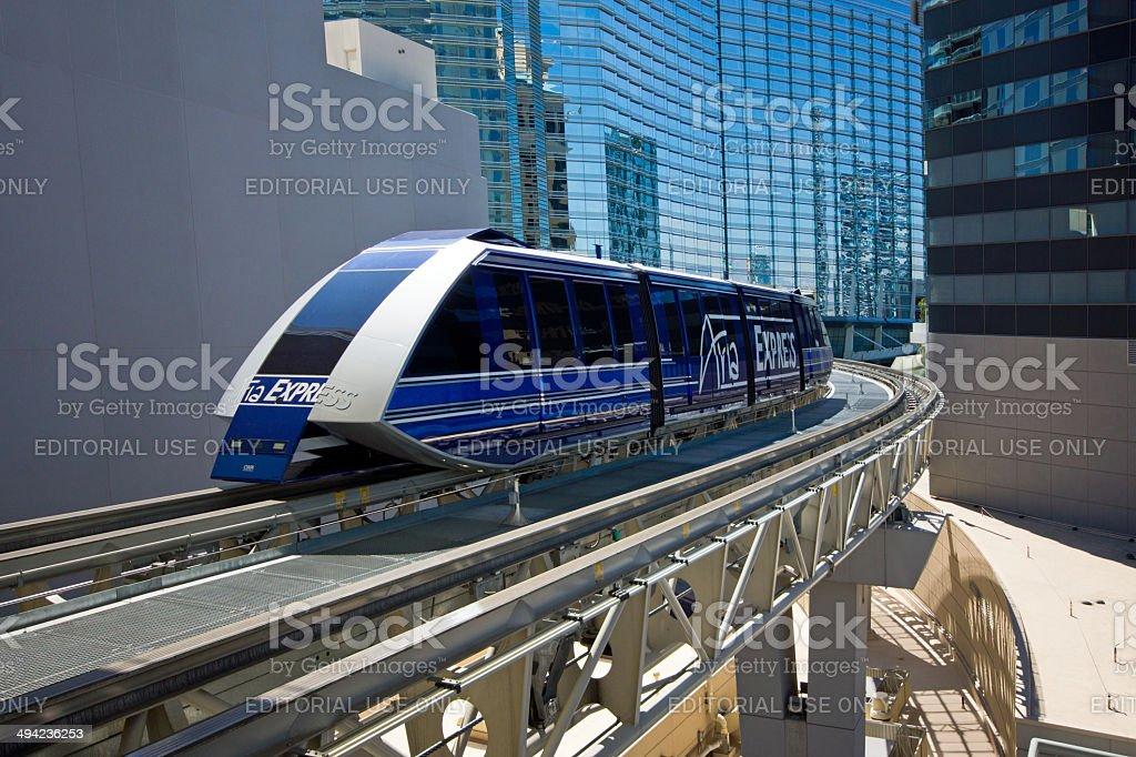 Aria Express Las Vegas stock photo