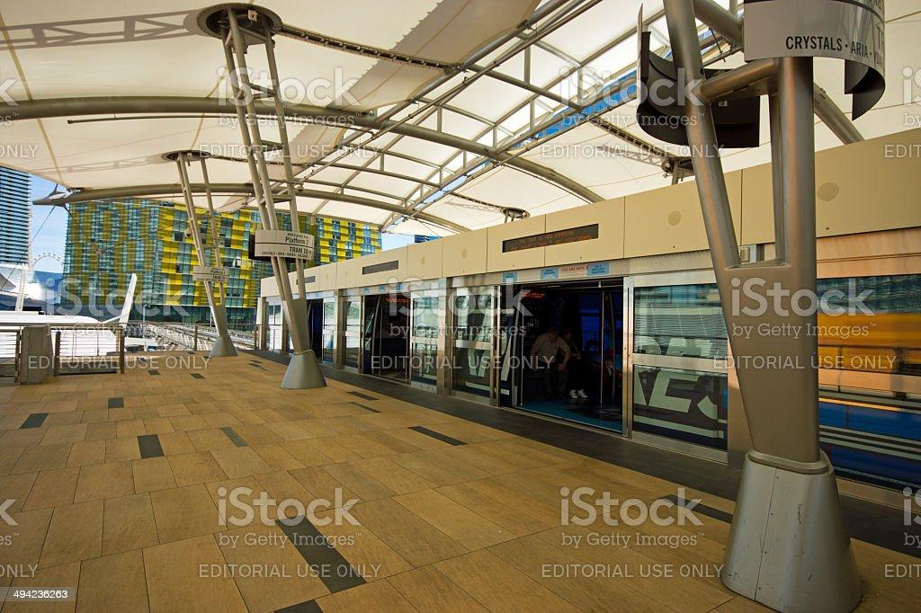 Aria Express Station Las Vegas stock photo