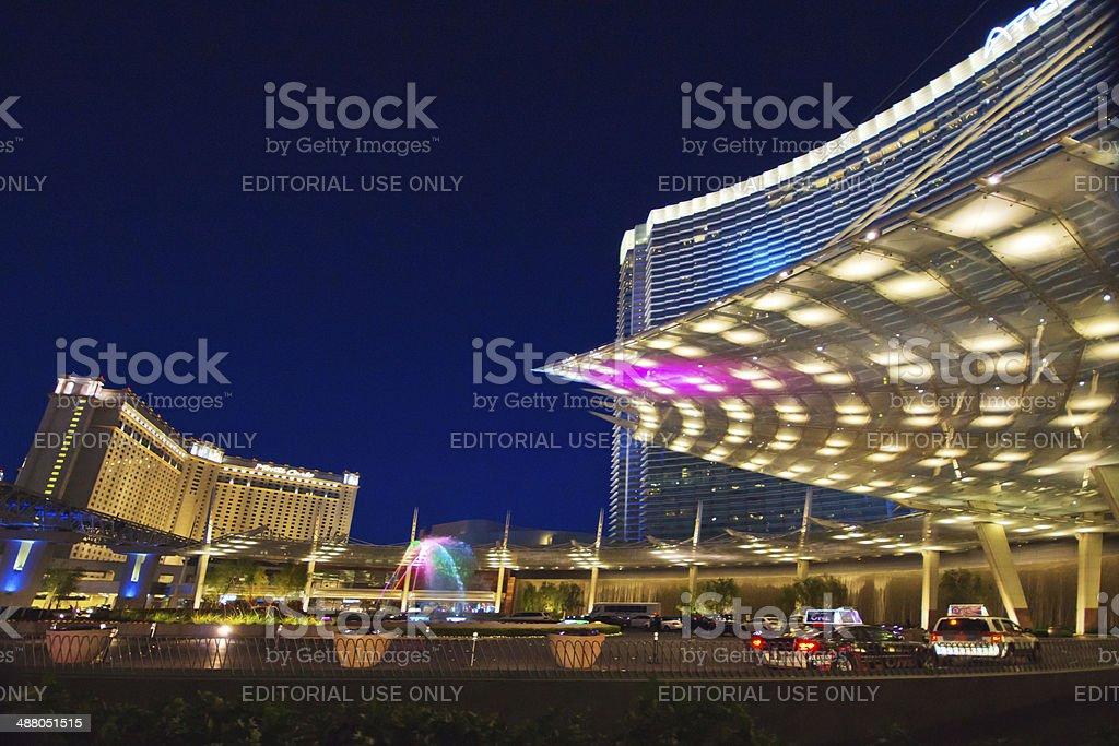 Aria Hotel and Casino complex stock photo