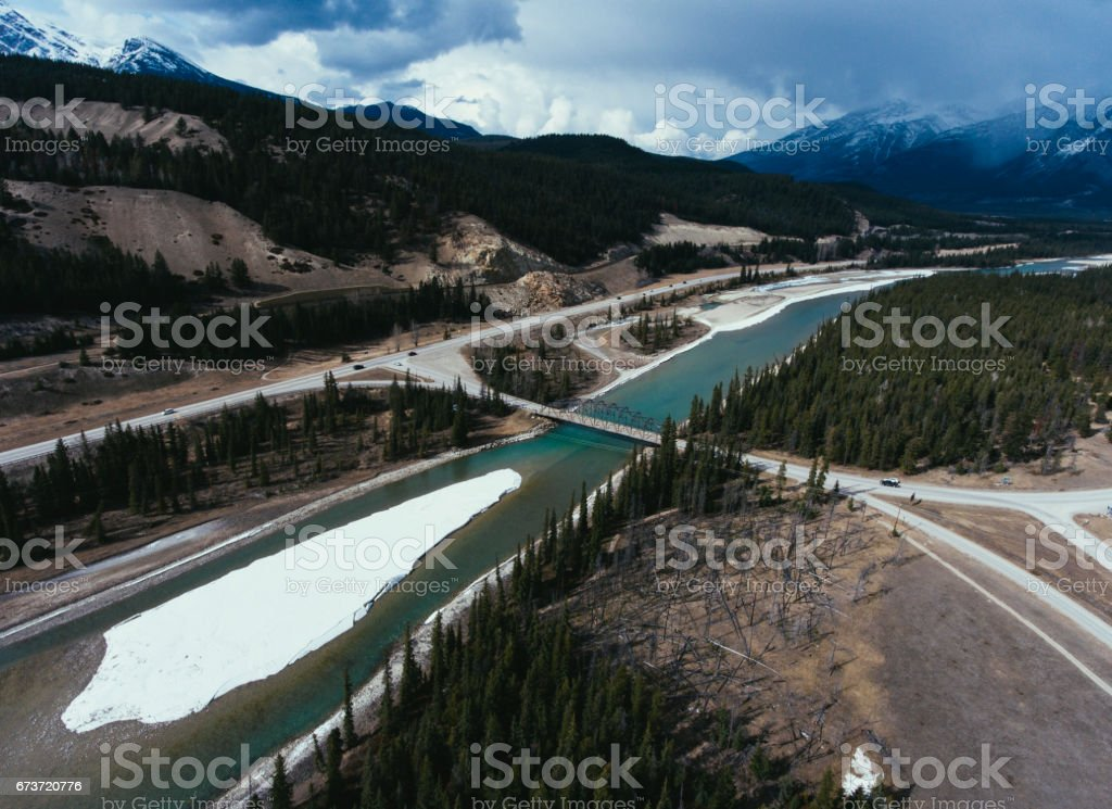Arial Photography, Japer National Park stock photo