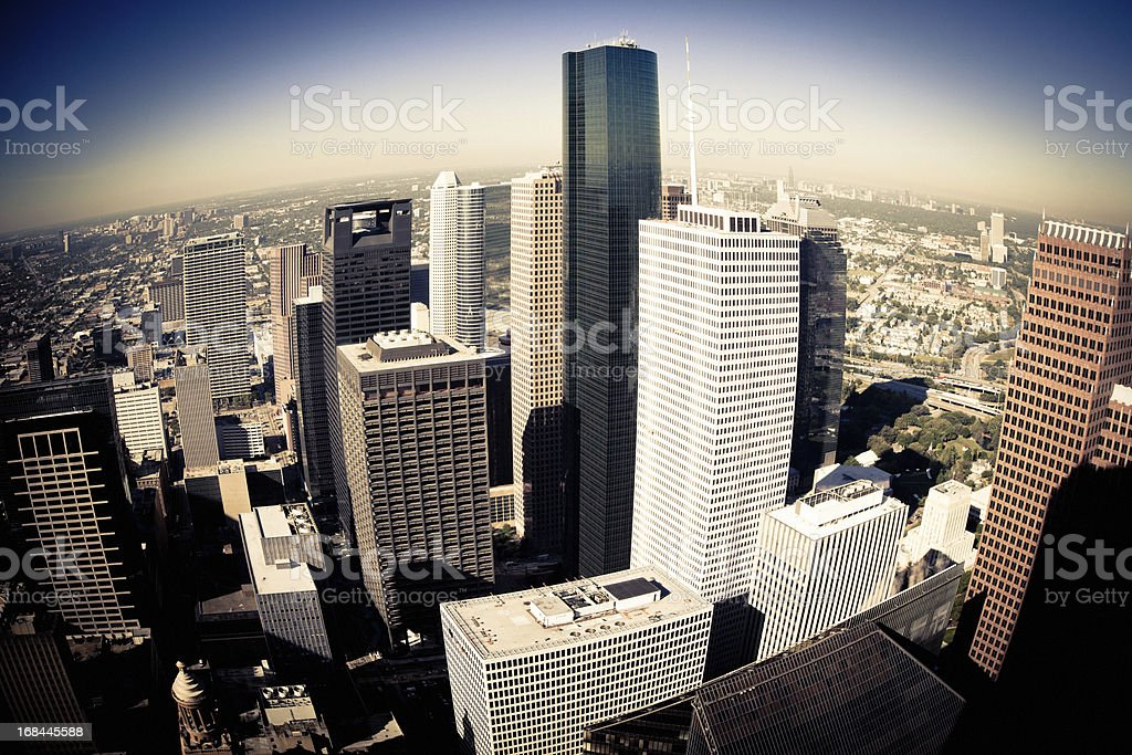 Arial view of Houston Texas royalty-free stock photo