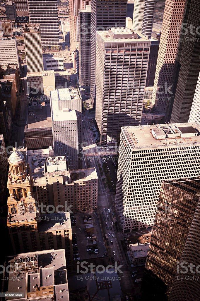 Arial view of Houston Texas royalty-free stock photo