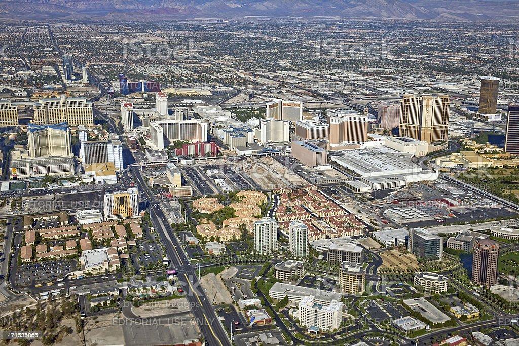Arial View of Las Vegas Nevada USA stock photo