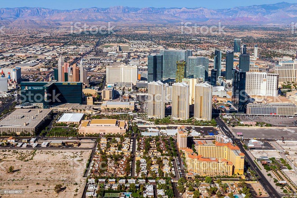 Arial View of Las Vegas ,Nevada, USA stock photo