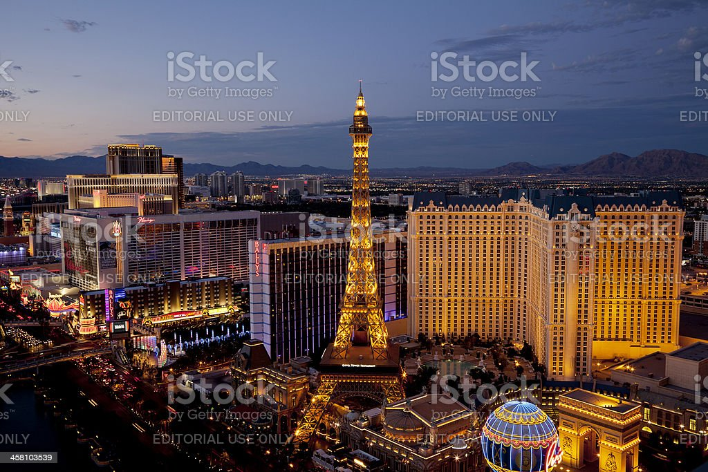 Arial view of Las Vegas Strip royalty-free stock photo
