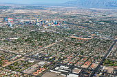 Arial View of Las Vegas,northern part, Nevada USA