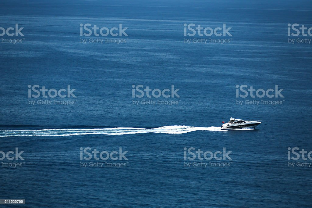 Arial view of Monte Carlo harbour in Monaco stock photo