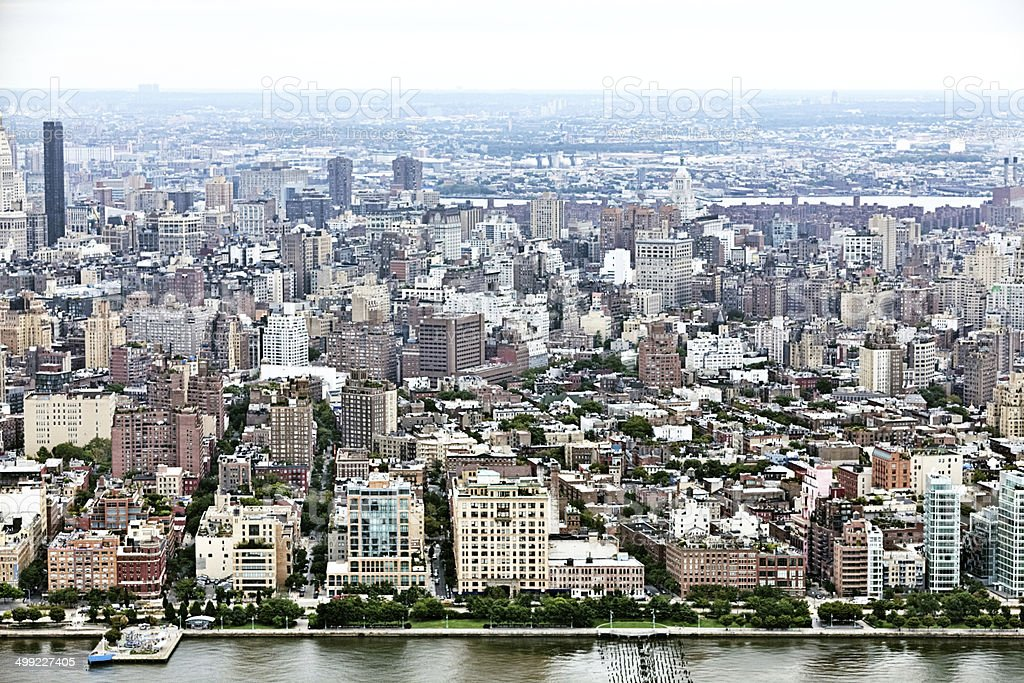 Arial view of New York City royalty-free stock photo