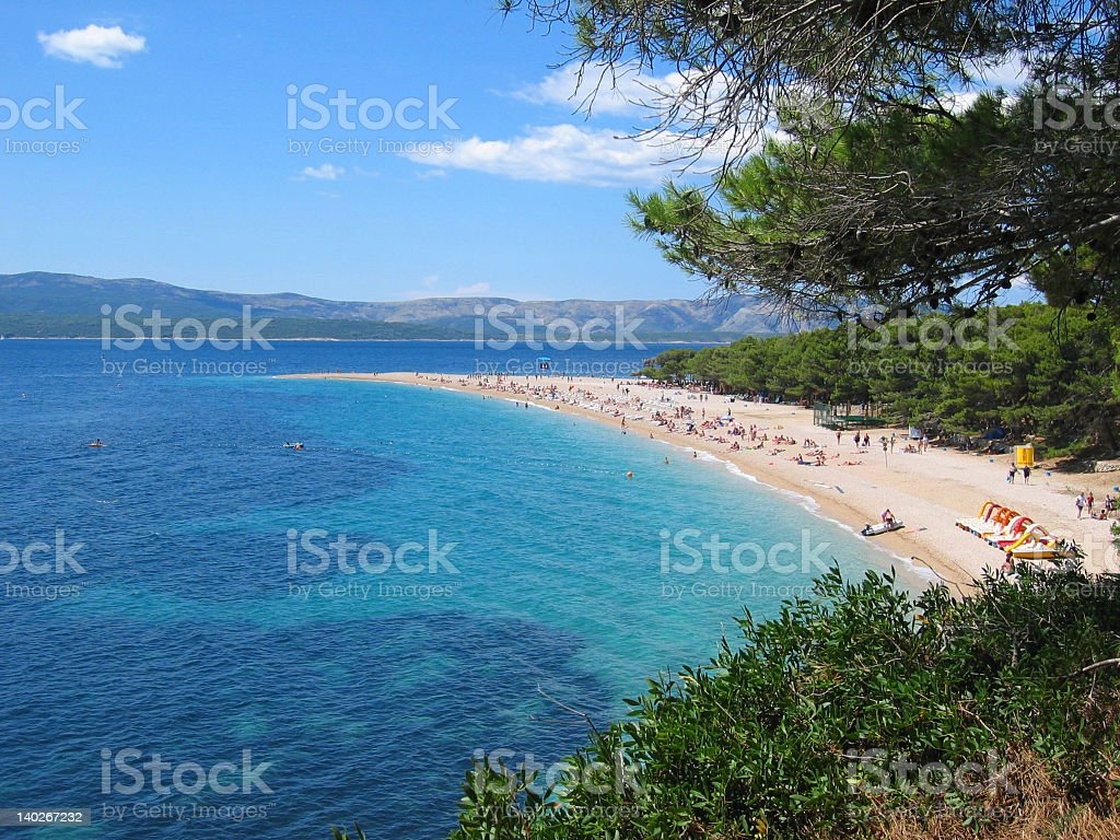 Arial view of the Perfect Beach  stock photo