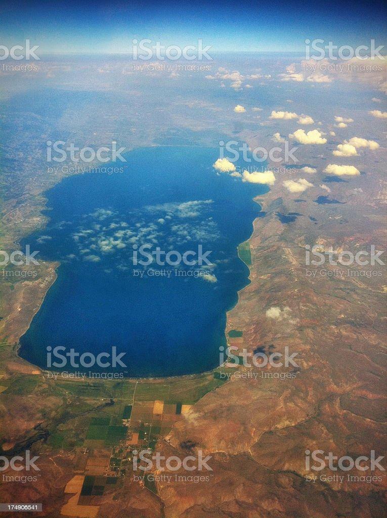 Arial View of Utah royalty-free stock photo