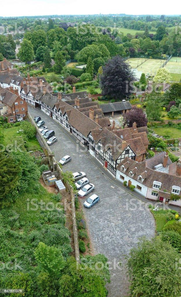 Arial view of Warwick Neighborhood stock photo