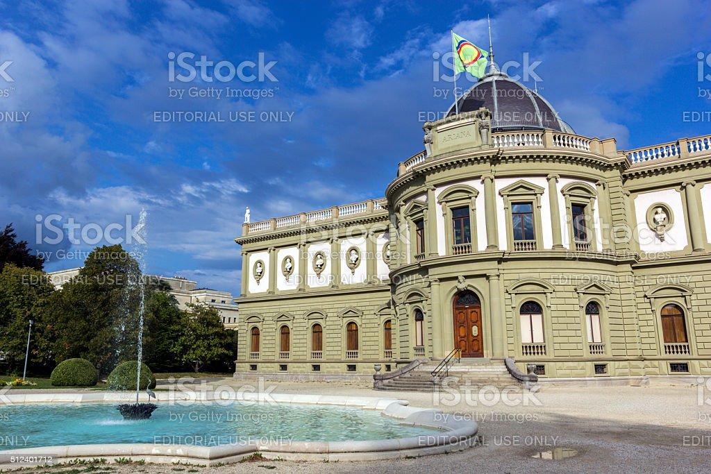 Ariana Museum in Geneva in Switzerland stock photo