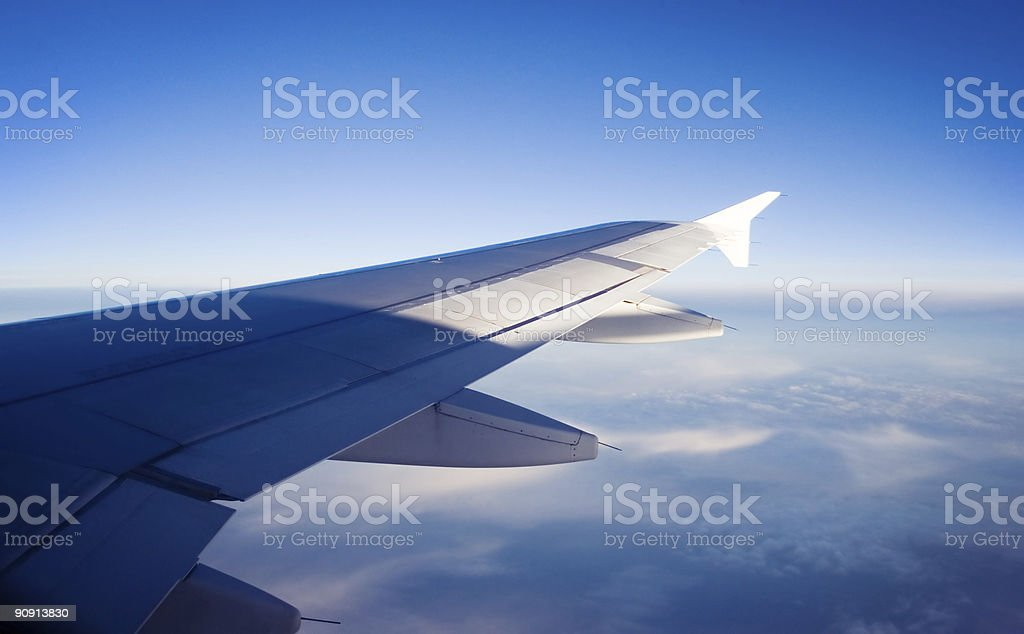 aricraft wing royalty-free stock photo