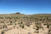 Arid Desert In Front of Extinct Volcano