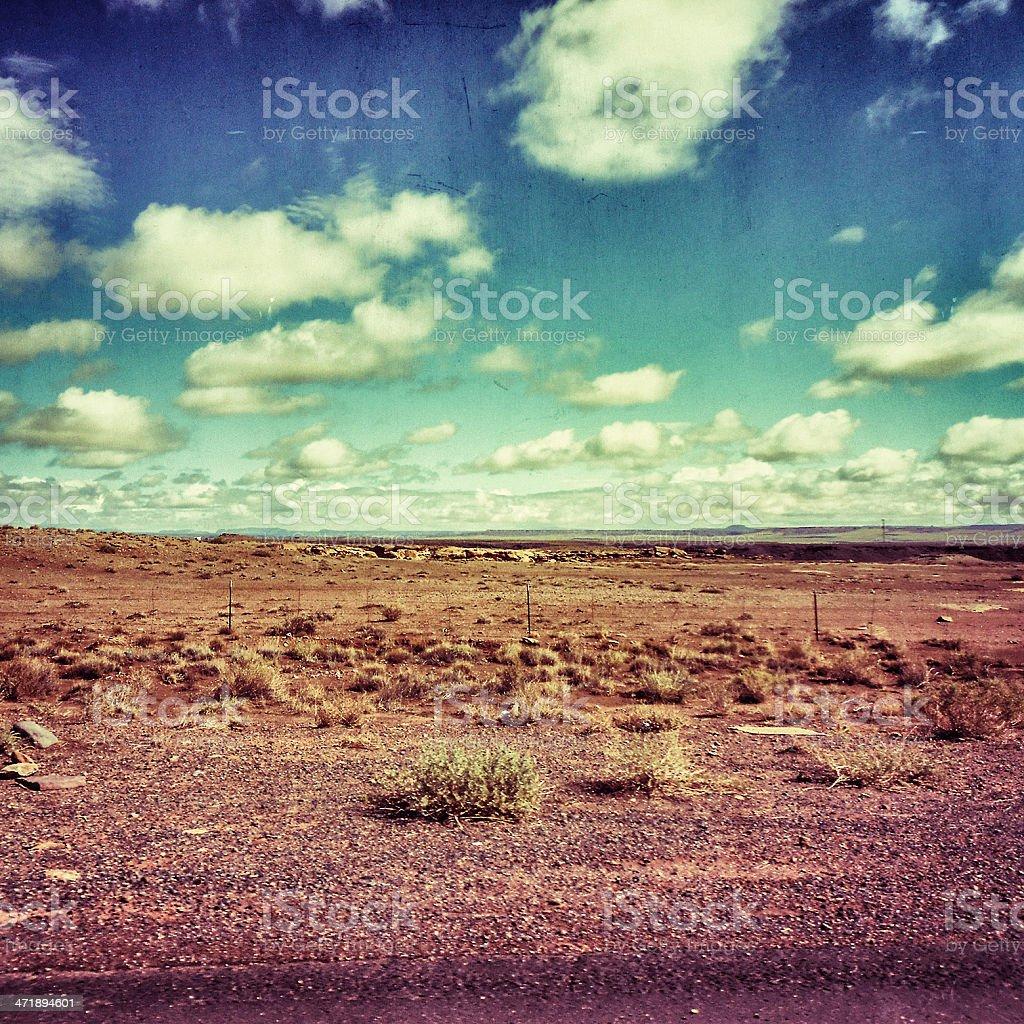 Arid desertic landscape in arizona royalty-free stock photo