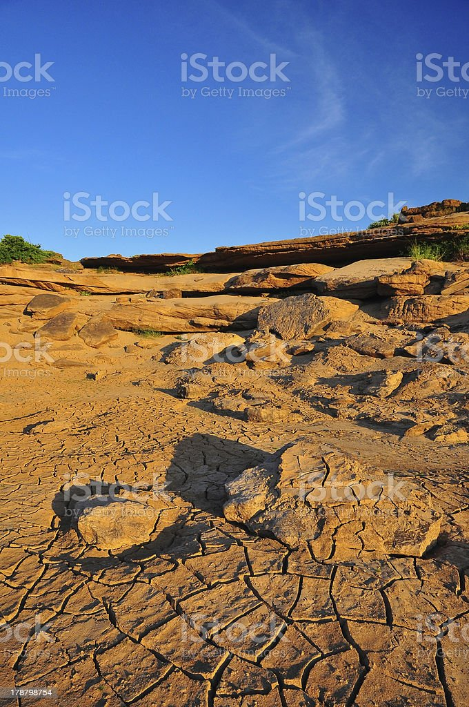 Arid land royalty-free stock photo