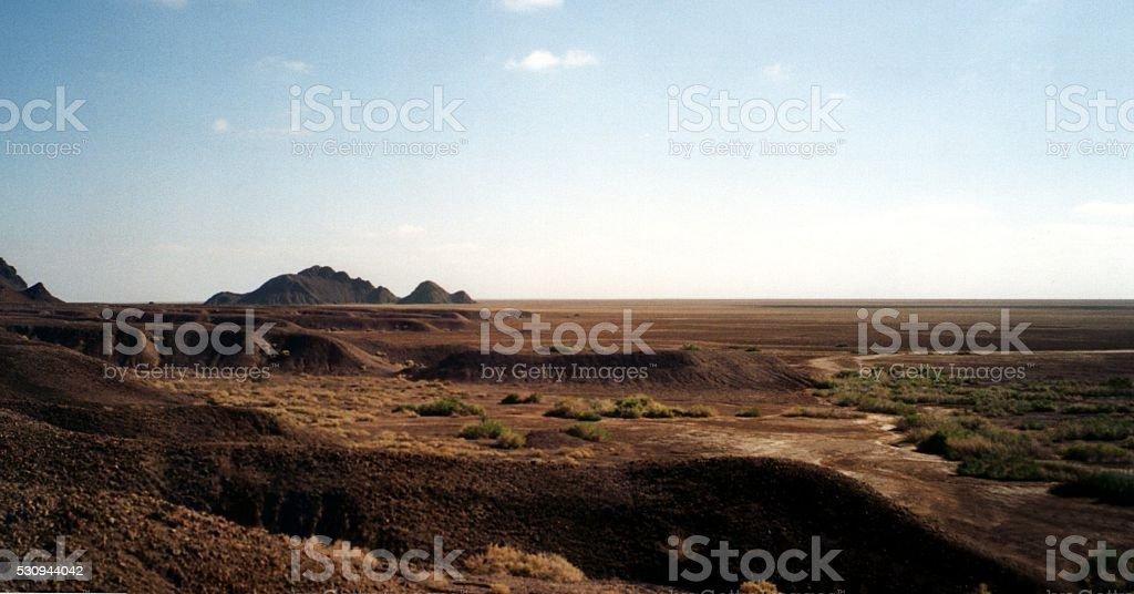 Arid landscape in Baja California Norte, Colorado river delta , Mexico stock photo