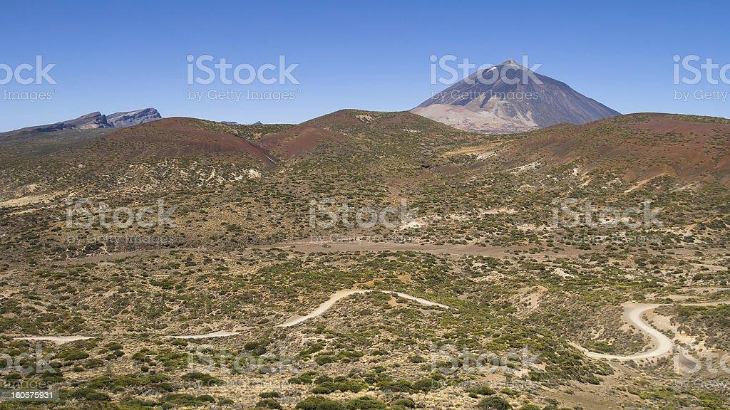 Arid landscape in Tenerife royalty-free stock photo