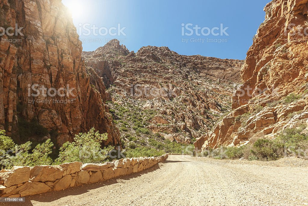 Arid Mountains Swartberg Pass South Africa stock photo