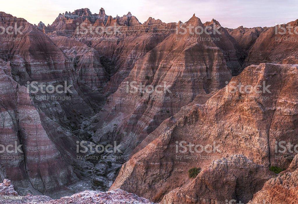 Arid Peaks of the Badlands in South Dakota royalty-free stock photo
