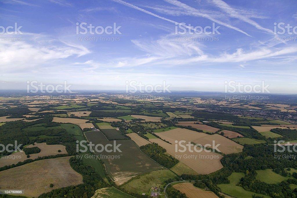 Ariel landscape stock photo