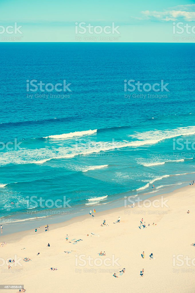 Ariel shot of broadbeach surfers paradise. stock photo