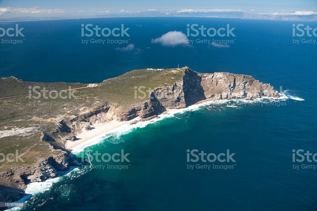 Ariel view of Cape of Good Hope stock photo