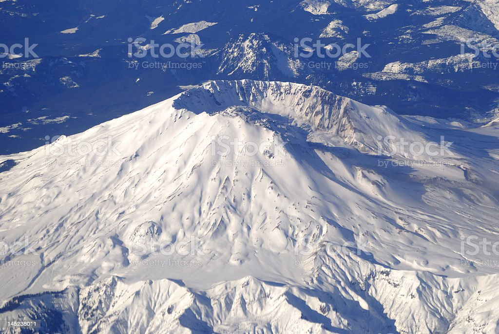 Ariel View of Mount St Helens stock photo