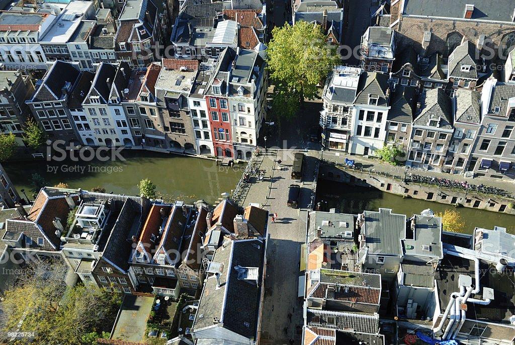 Ariel view of the city of Utrecht stock photo