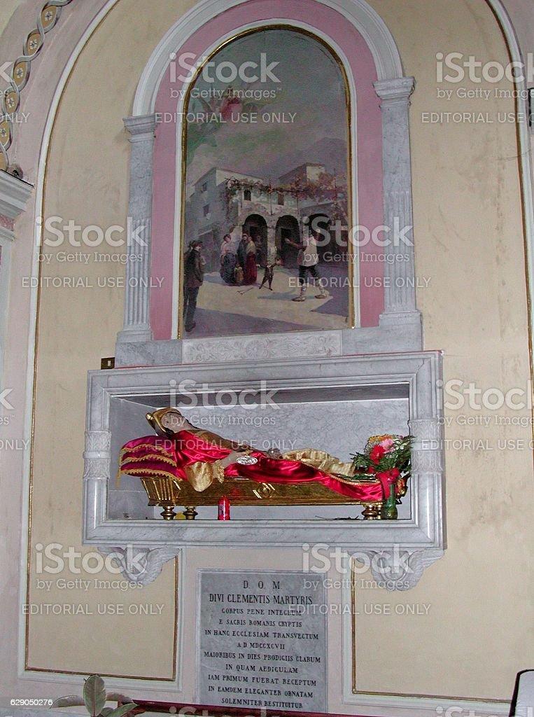 Arienzo - Reliquie di S. Clemente martire stock photo