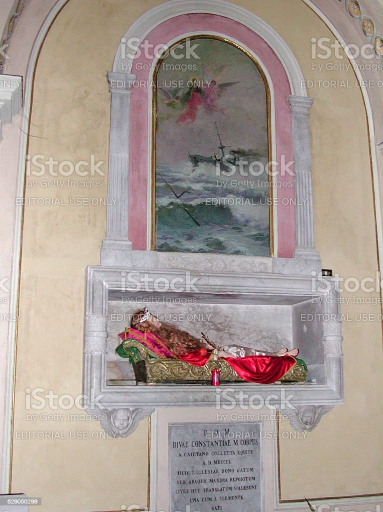 Arienzo - Reliquie di S. Costanza Vergine e Martire stock photo
