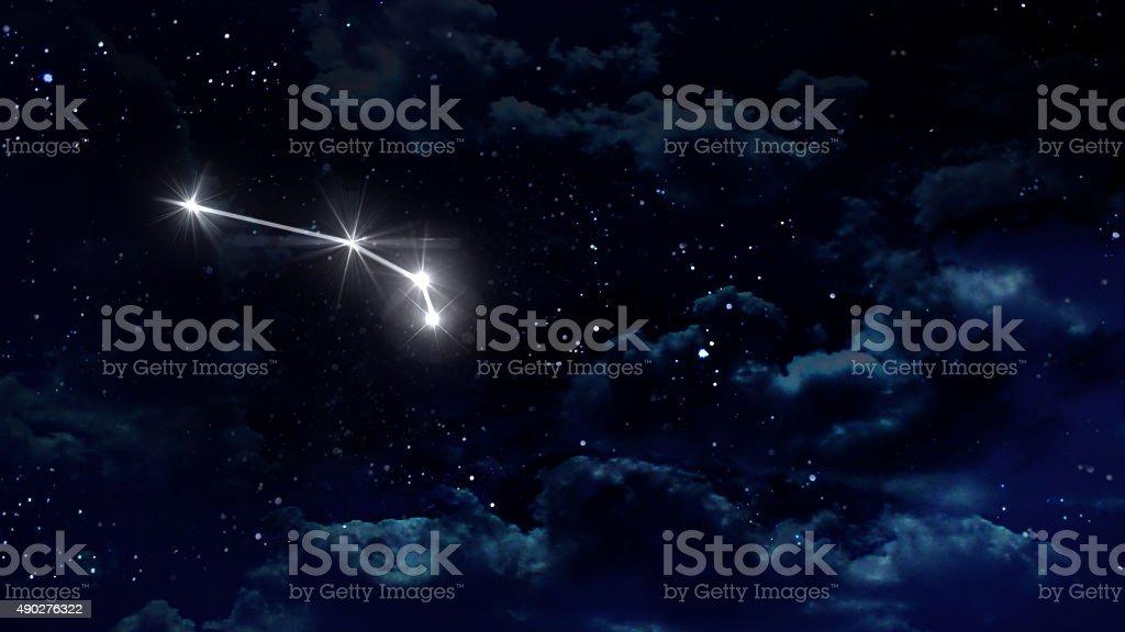 1 Aries Horoscope night white stock photo