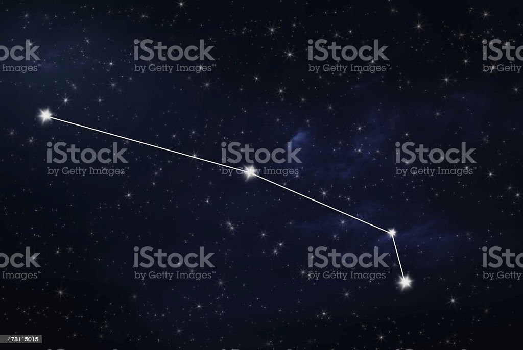 Aries horoscope star sign stock photo