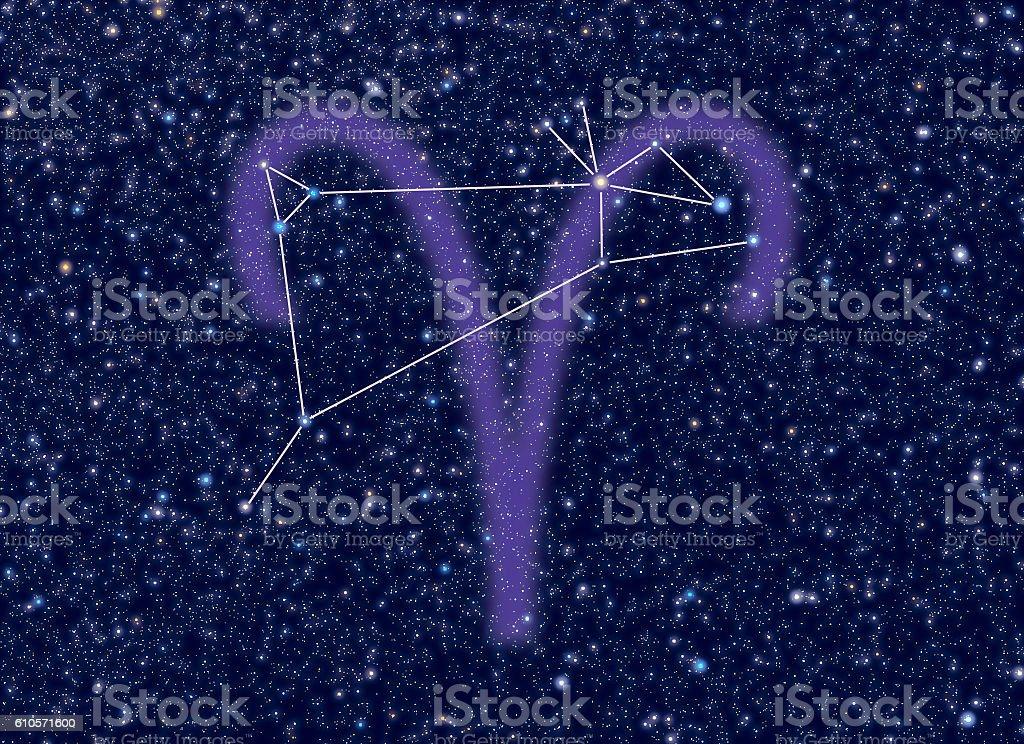 Aries Zodiac constellation stock photo