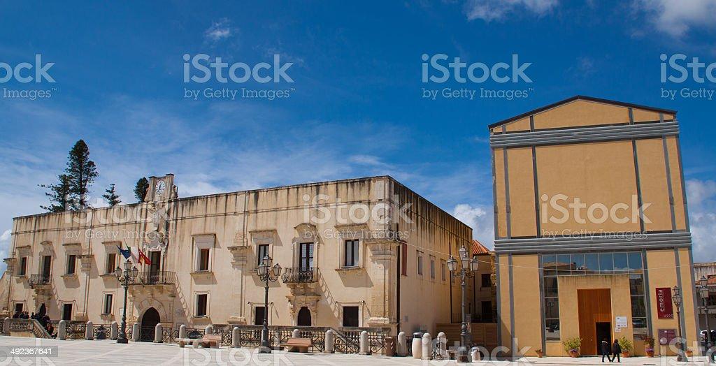 aristocratic building in sicily stock photo