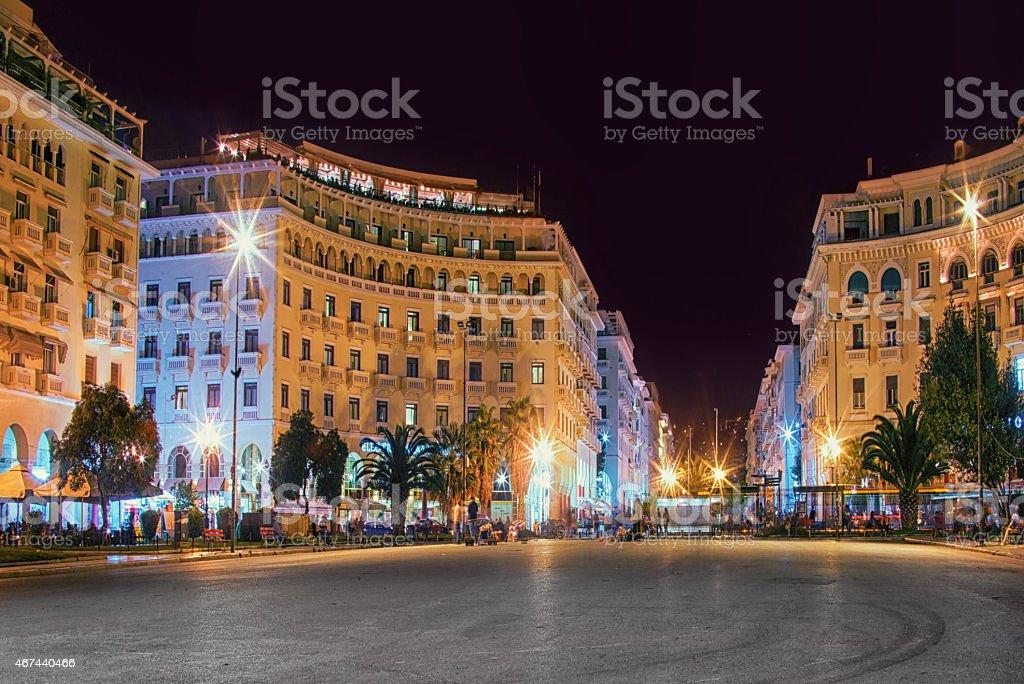 Aristotelous Square stock photo