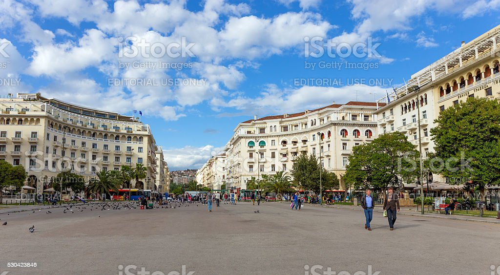 Aristotelous Square, Thessaloniki, Greece stock photo
