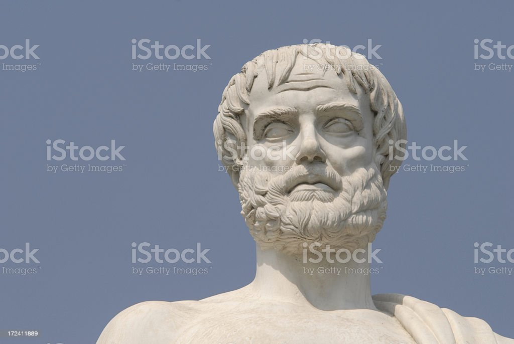 Aristotle, portray,the philosopher stock photo