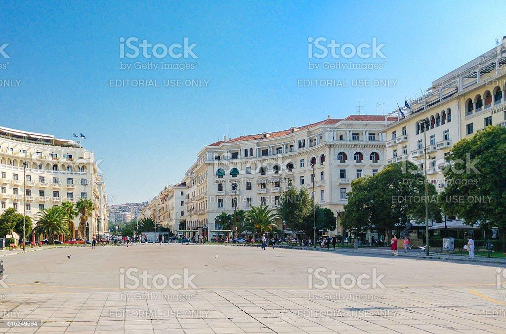 Aristotle Square, thessaloniki, Greece stock photo