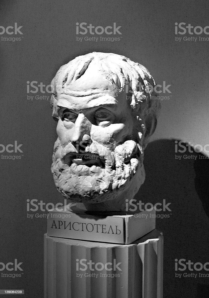 Aristotle's Bust stock photo